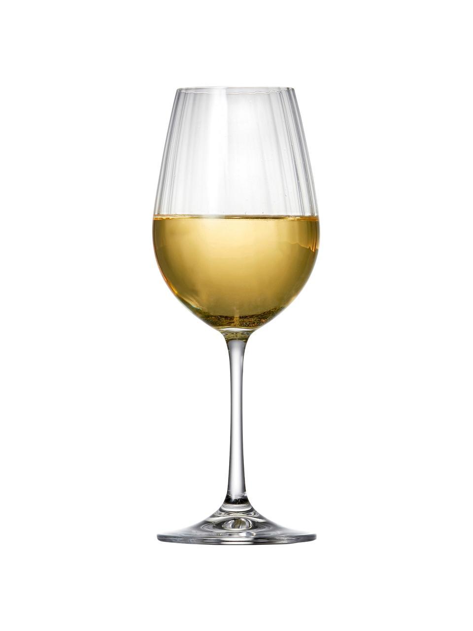 Kryształowy kieliszek do czerwonego wina Romance, 6 szt., Szkło kryształowe, Transparentny, Ø 9 x W 22 cm