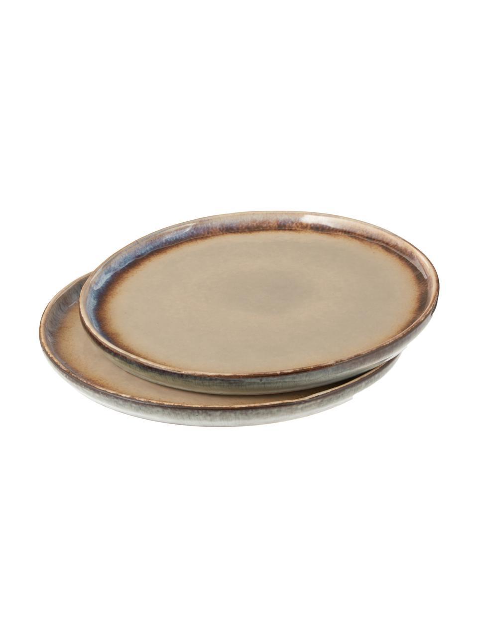 Piattino da dessert artigianale Nomimono 2 pz, Gres, Grigio, grigio, Ø 17 cm
