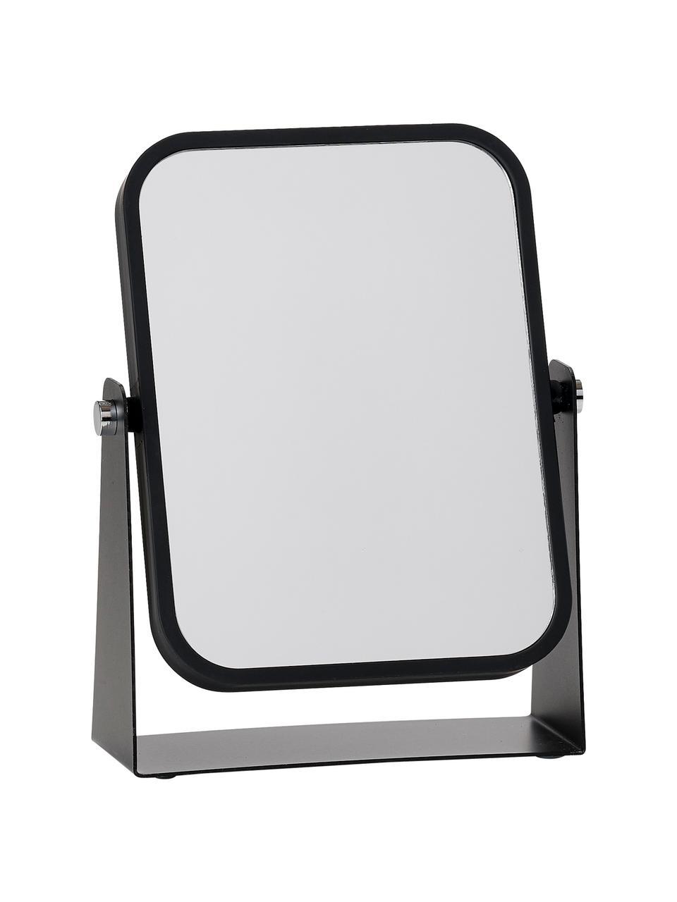 Lusterko kosmetyczne z powiększeniem Aurora, Rama: czarny Lustro: szkło lustrzane, S 15 x W 21 cm