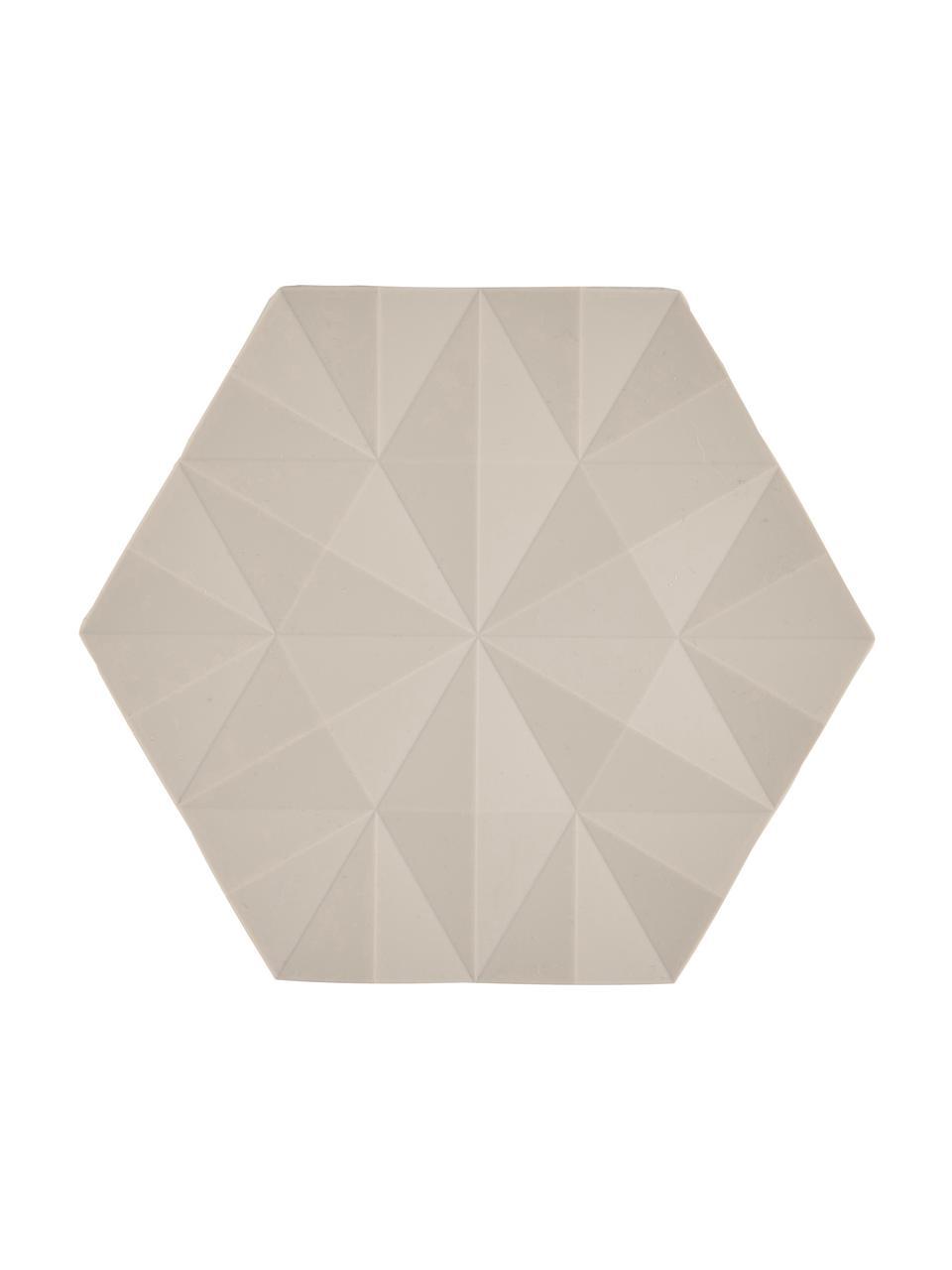 Topfuntersetzer Ori in Beige, 2 Stück, Silikon, Beige, 14 x 16 cm