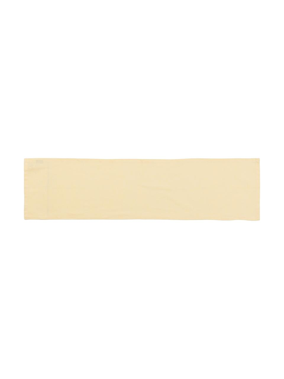 Tischläufer Riva aus Baumwollgemisch in Hellgelb, Webart: Jacquard, Gelb, 40 x 150 cm
