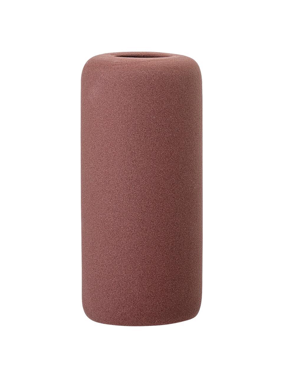 Kleine vaas Redstone van keramiek, Keramiek, Bordeauxrood, Ø 6 x H 13 cm
