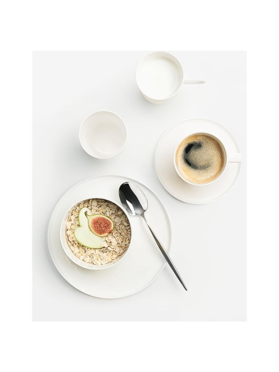 Komplet filiżanek z porcelany ze spodkiem Oco, 6 elem., Fine Bone China (porcelana kostka) Fine Bone China to miękka porcelana wyróżniająca się wyjątkowym, półprzezroczystym połyskiem, Kość słoniowa, Ø 6 x W 7 cm