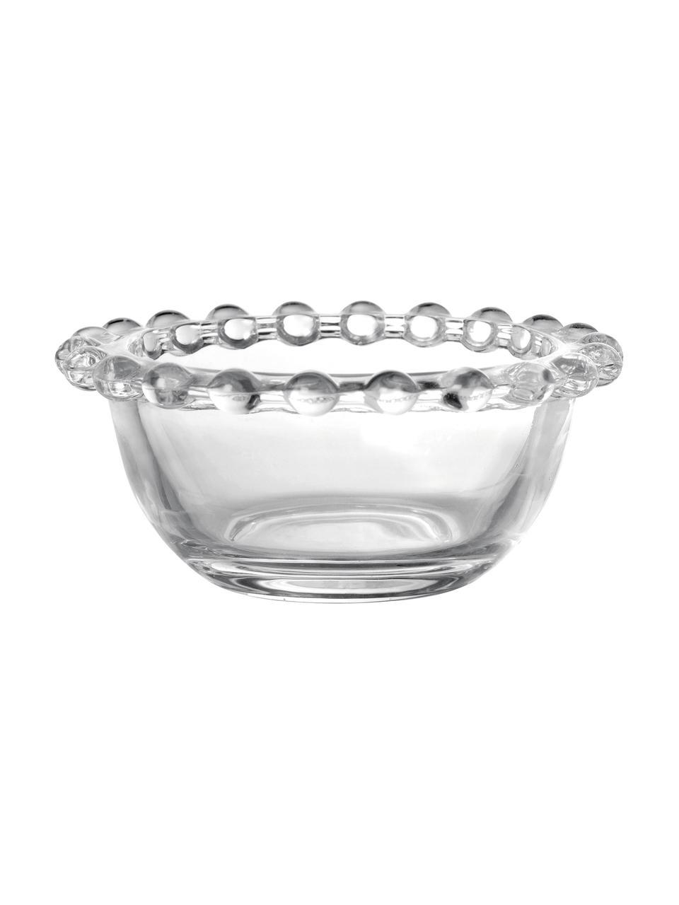 Petit bol en verre Perles, 2pièces, Transparent