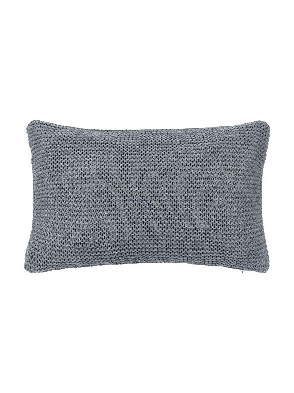 Housse de coussin rectangulaire gris Adalyn, Gris clair