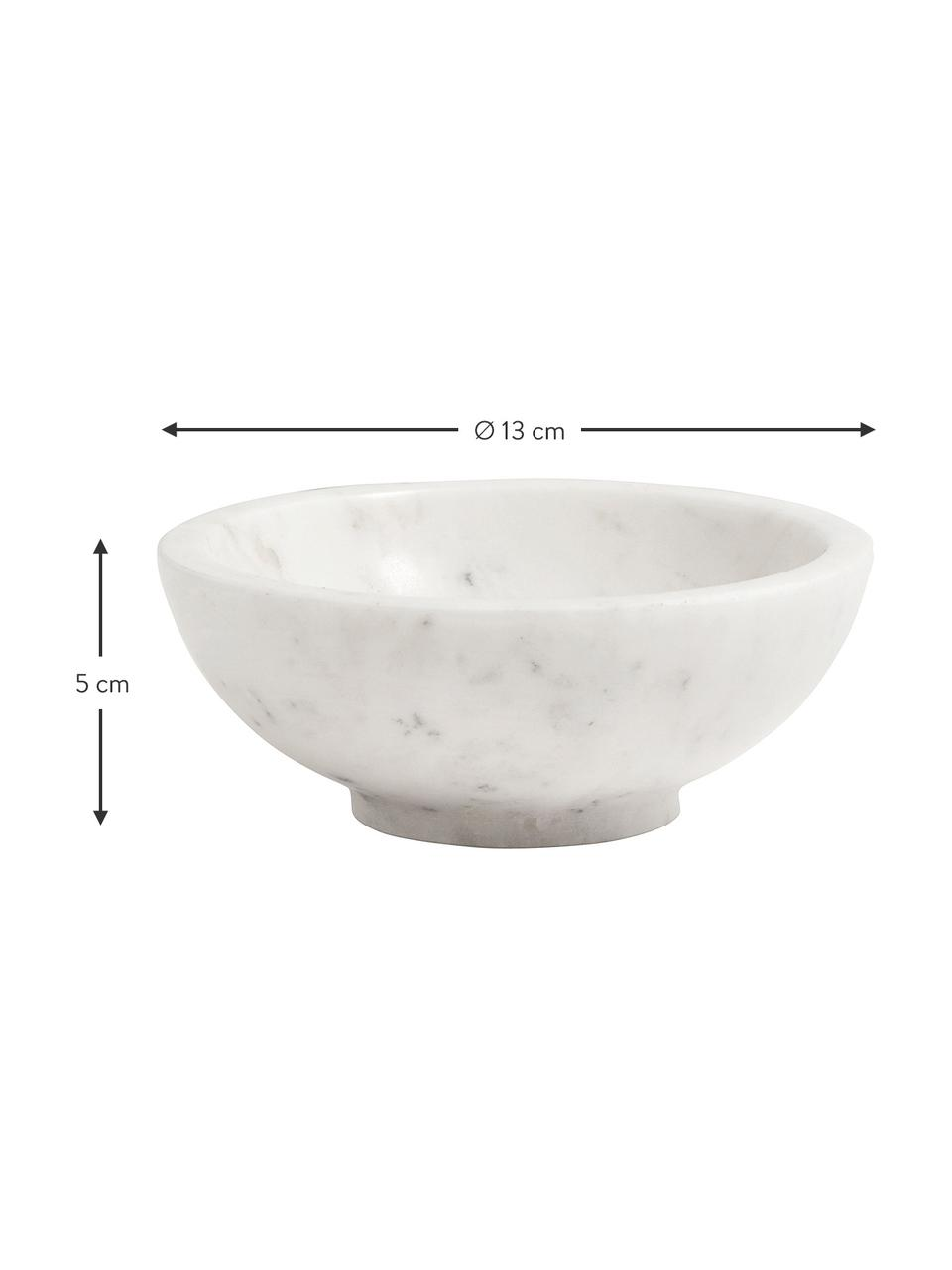 Ciotola in marmo Lorka, Marmo, Bianco, Ø 13 x Alt. 5 cm