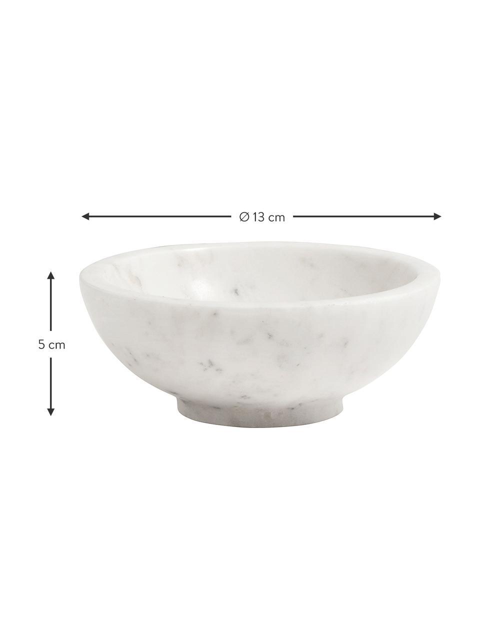 Miska z marmuru Lorka, Marmur, Biały, Ø 13 x W 5 cm