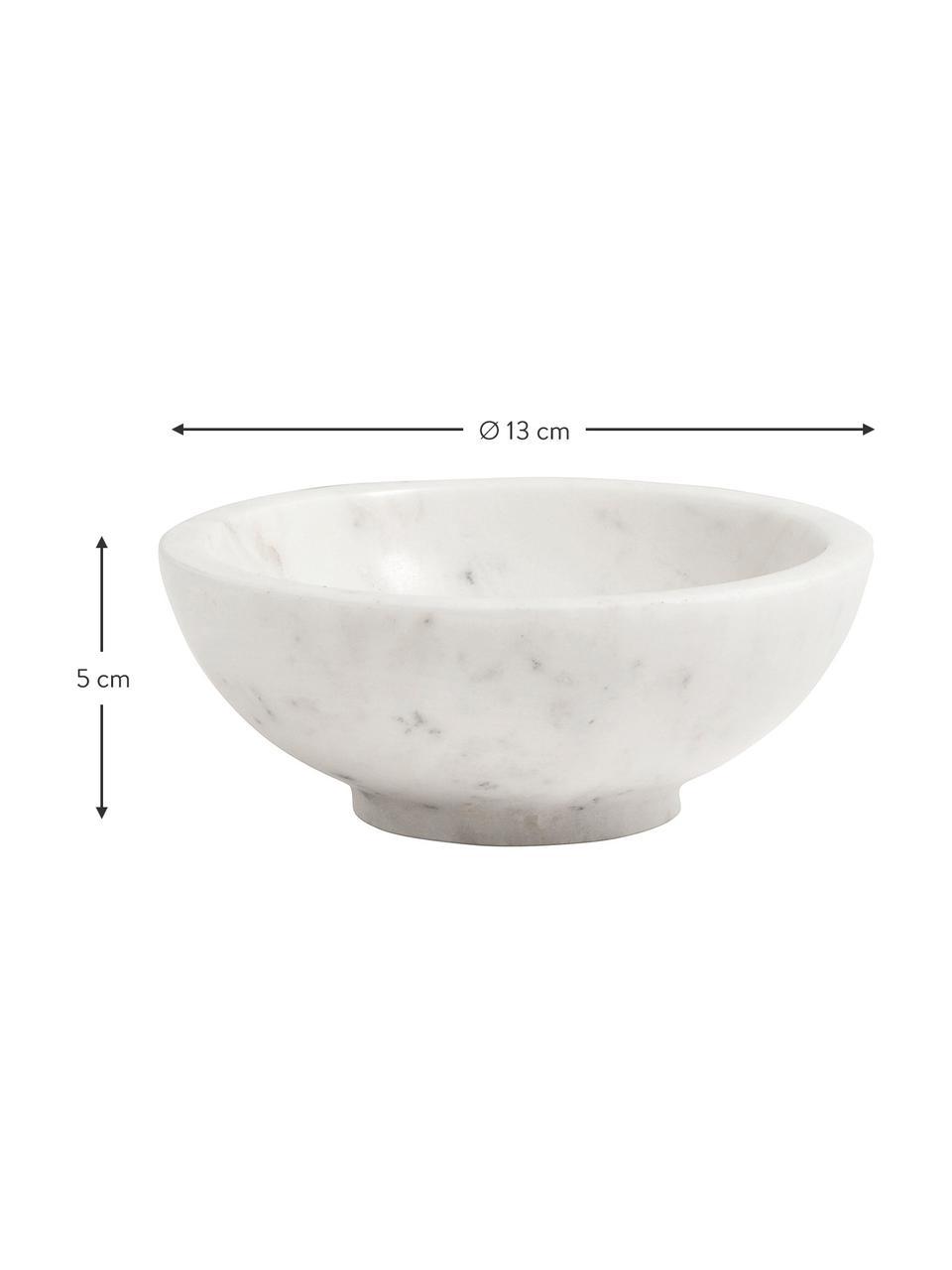 Marmeren schaal Lorka, Marmer, Wit, Ø 13 x H 5 cm