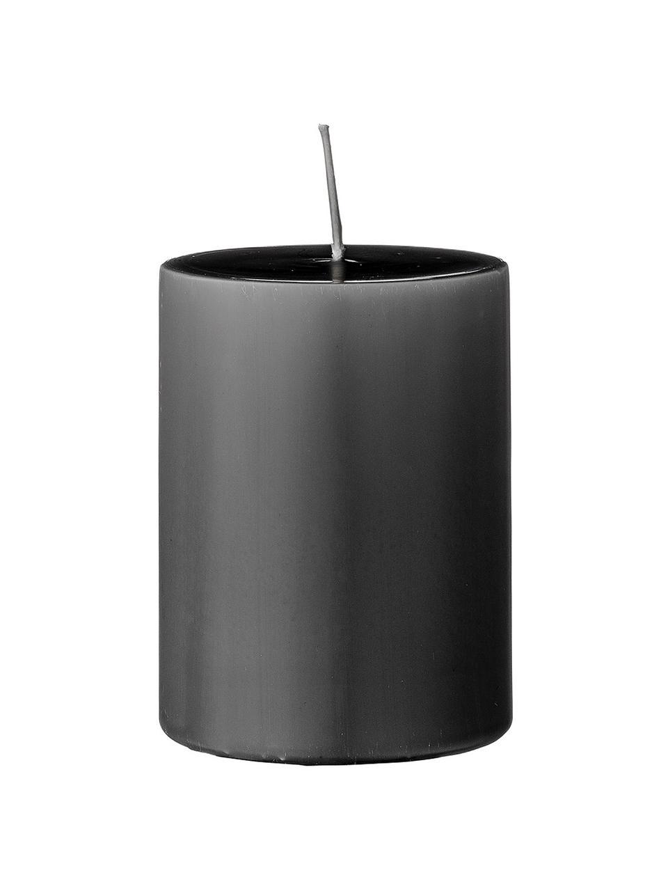 Stumpenkerzen Lulu, 4 Stück, Wachs, Grau, Ø 7 x H 10 cm