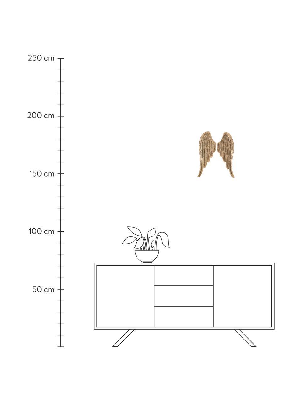 Set decorazioni da parete Cosmo 2 pz, Poliresina, Dorato, Larg. 15 x Alt. 41 cm
