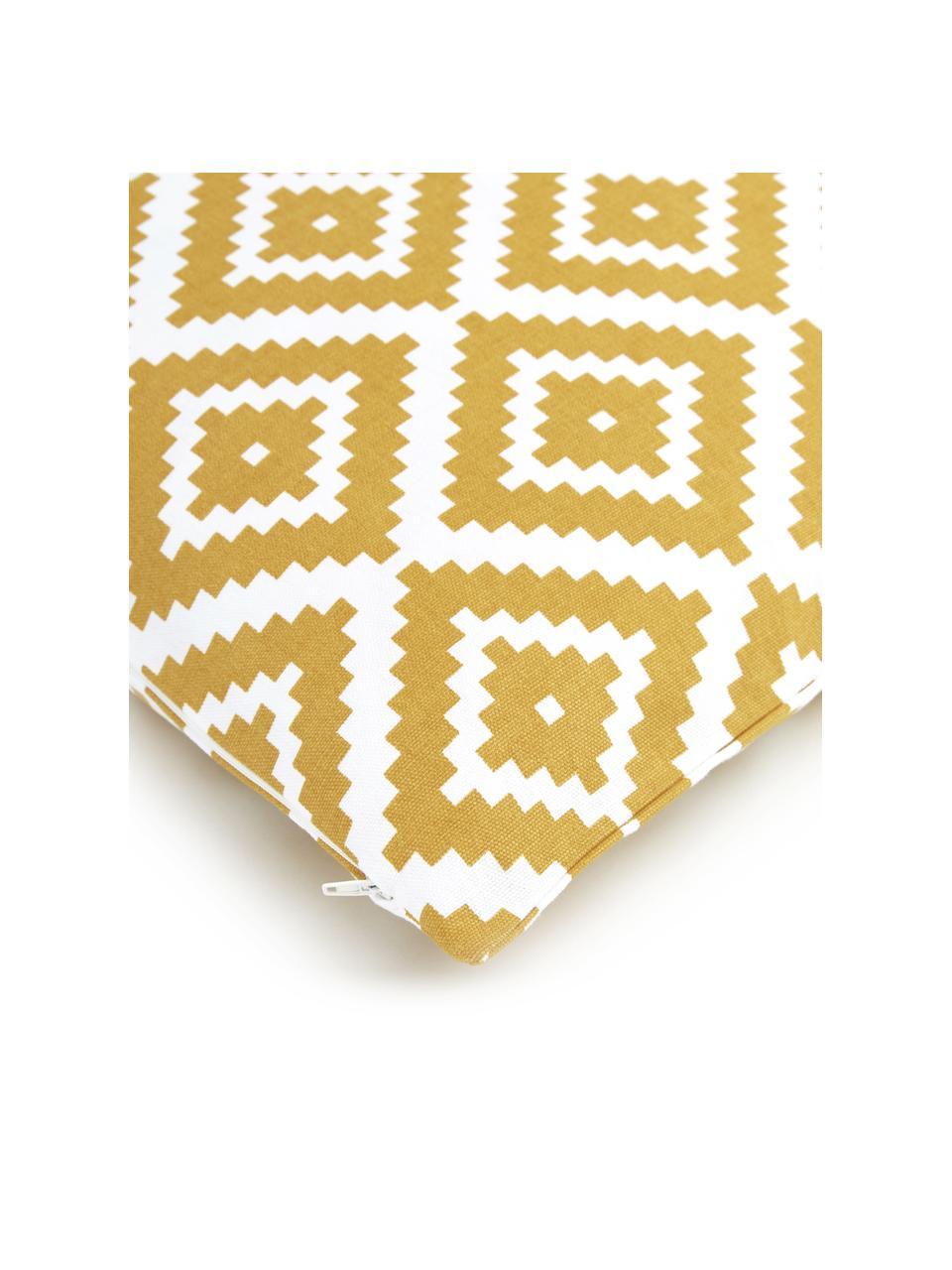 Kissenhülle Miami in Gelb/Weiß, 100% Baumwolle, Gelb, 45 x 45 cm