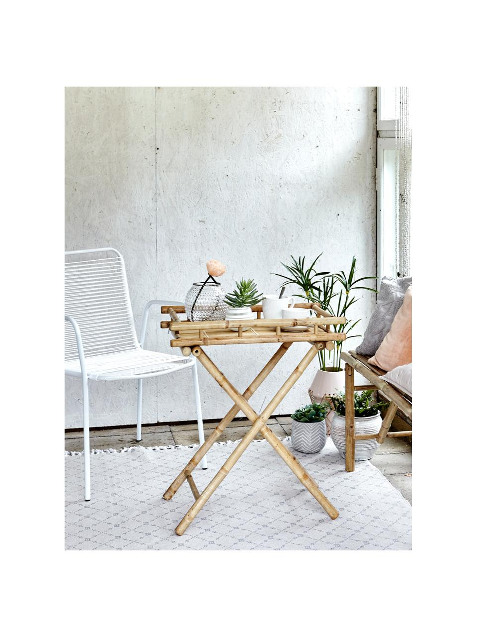 Klappbarer Garten-Beistelltisch Mandisa aus Bambus, Bambus, naturbelassen, Bambus, 60 x 68 cm