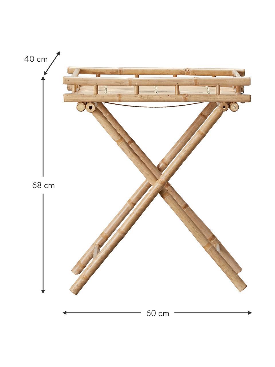 Tavolino pieghevole da giardino in bambù Mandisa, Bambù, finitura naturale, Bambù, Larg. 60 x Alt. 68 cm