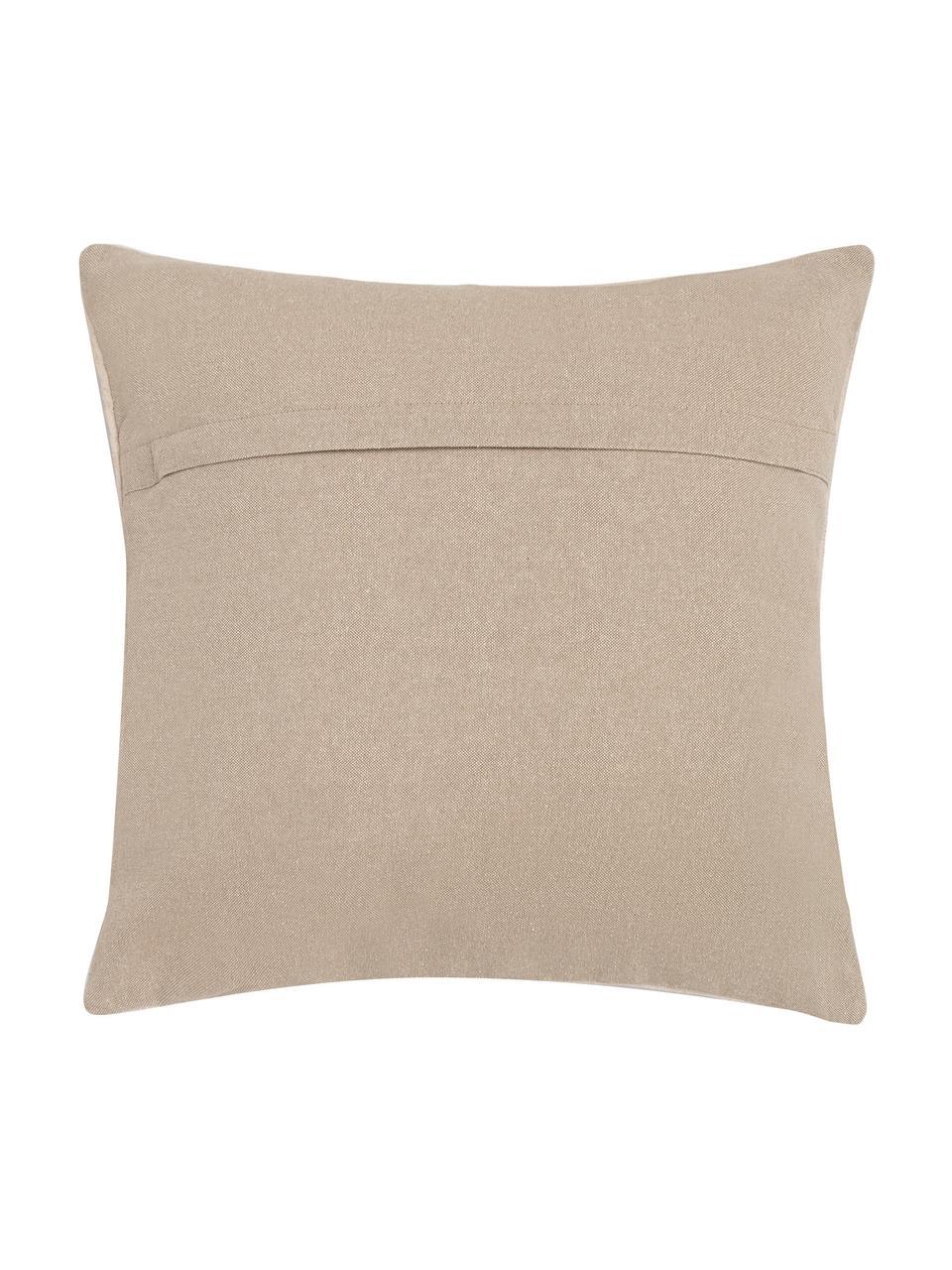 Poszewka na poduszkę Tanger, 100% bawełna, Beżowy, odcienie czerwonego, S 45 x D 45 cm