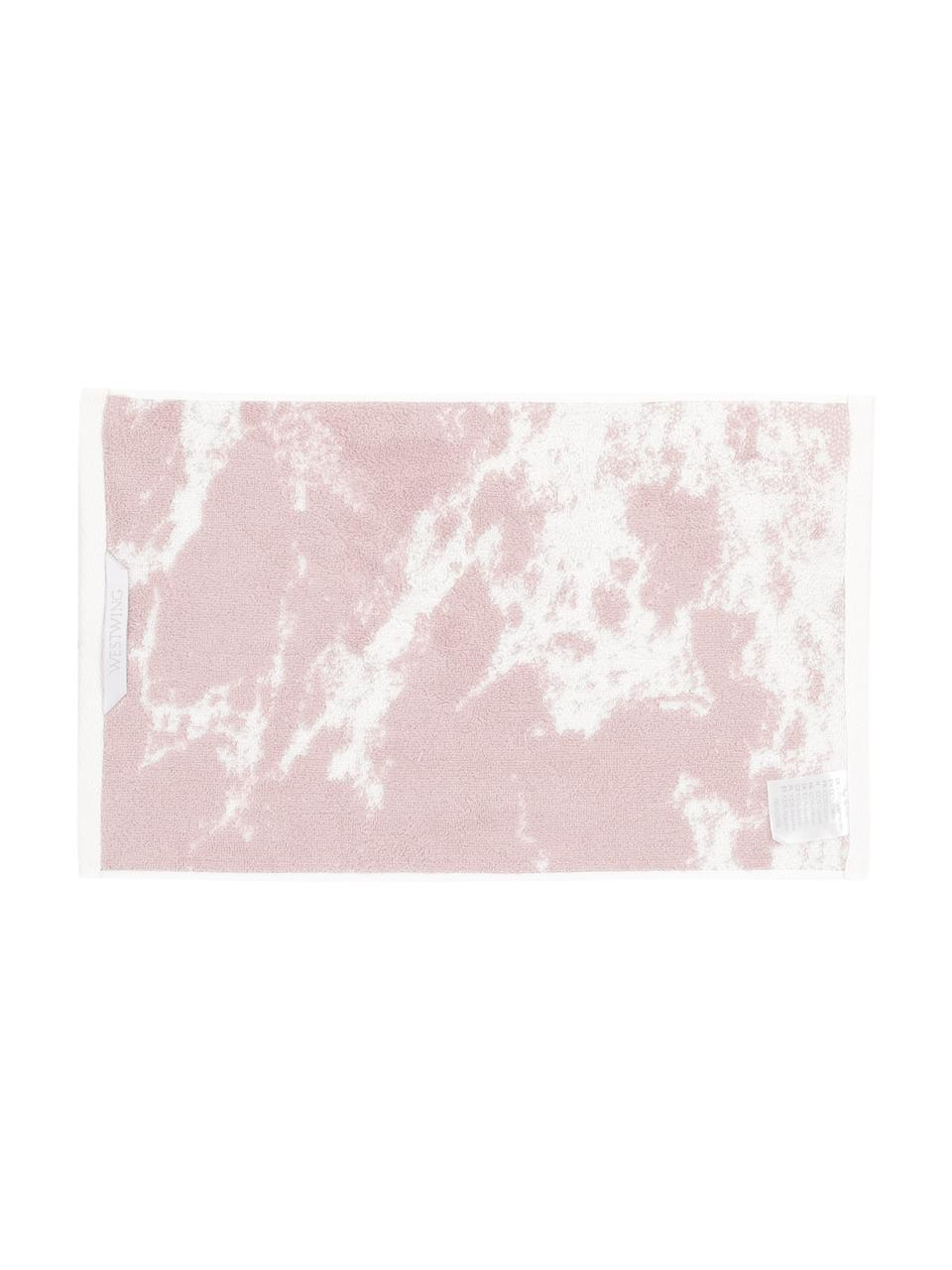 Handtuch Malin in verschiedenen Größen, mit Marmor-Print, Rosa, Cremeweiß, Gästehandtuch