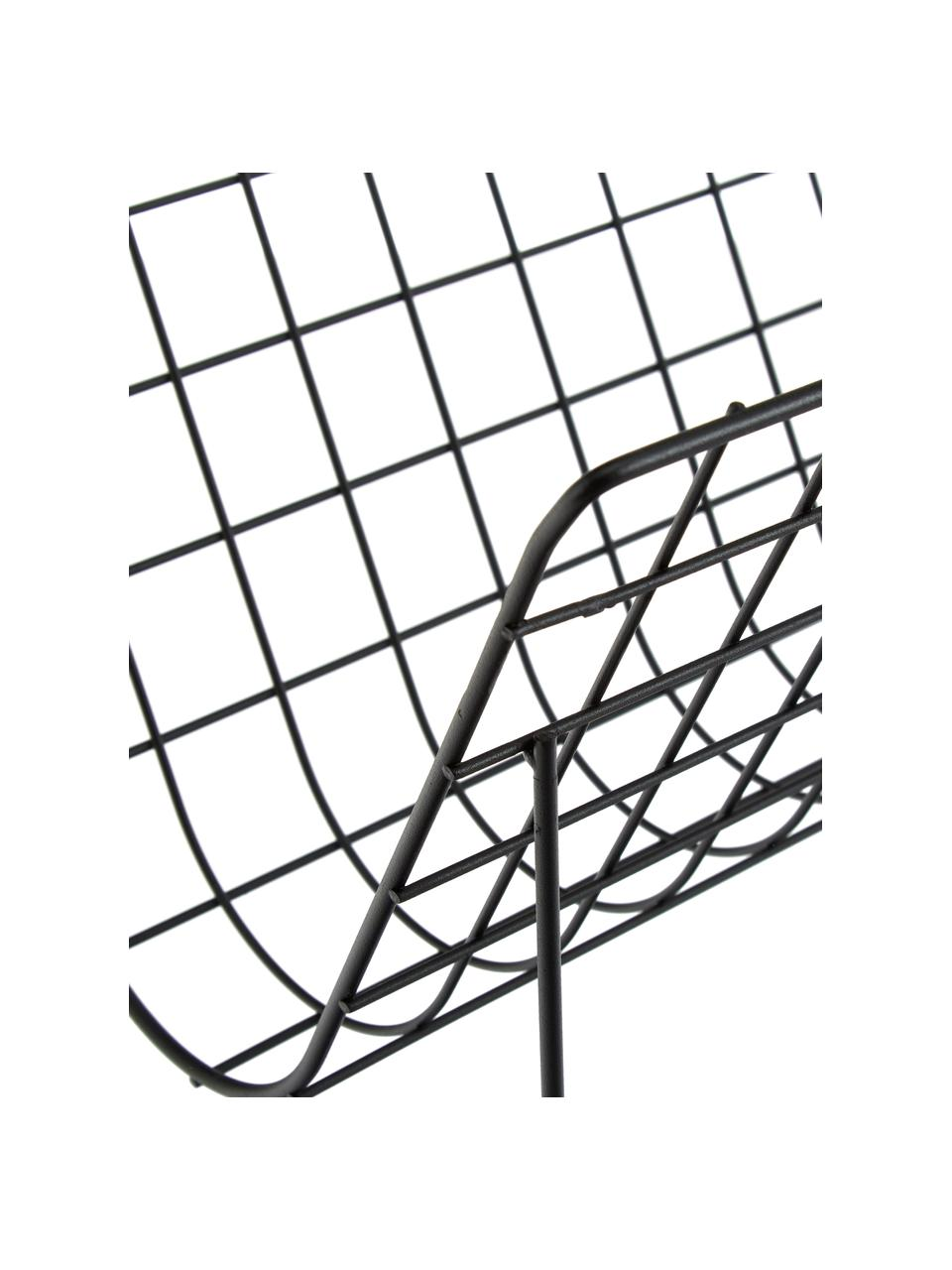 Portariviste Brando, Acciaio rivestito, Nero, Larg. 40 x Alt. 29 cm