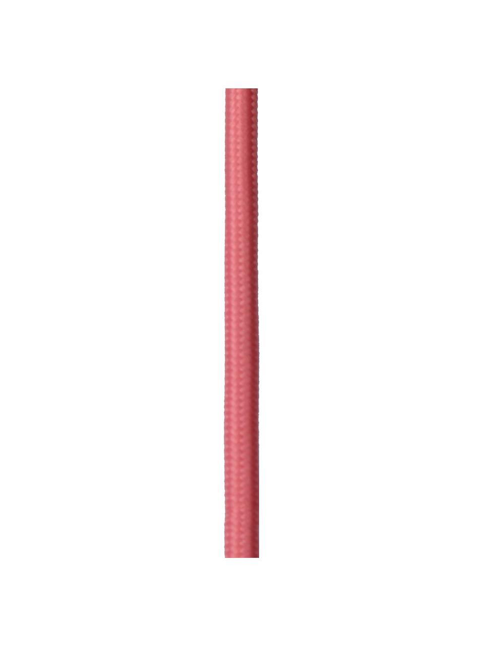 Wandleuchte Pola mit Stecker, Rosa, Braun, 12 x 22 cm
