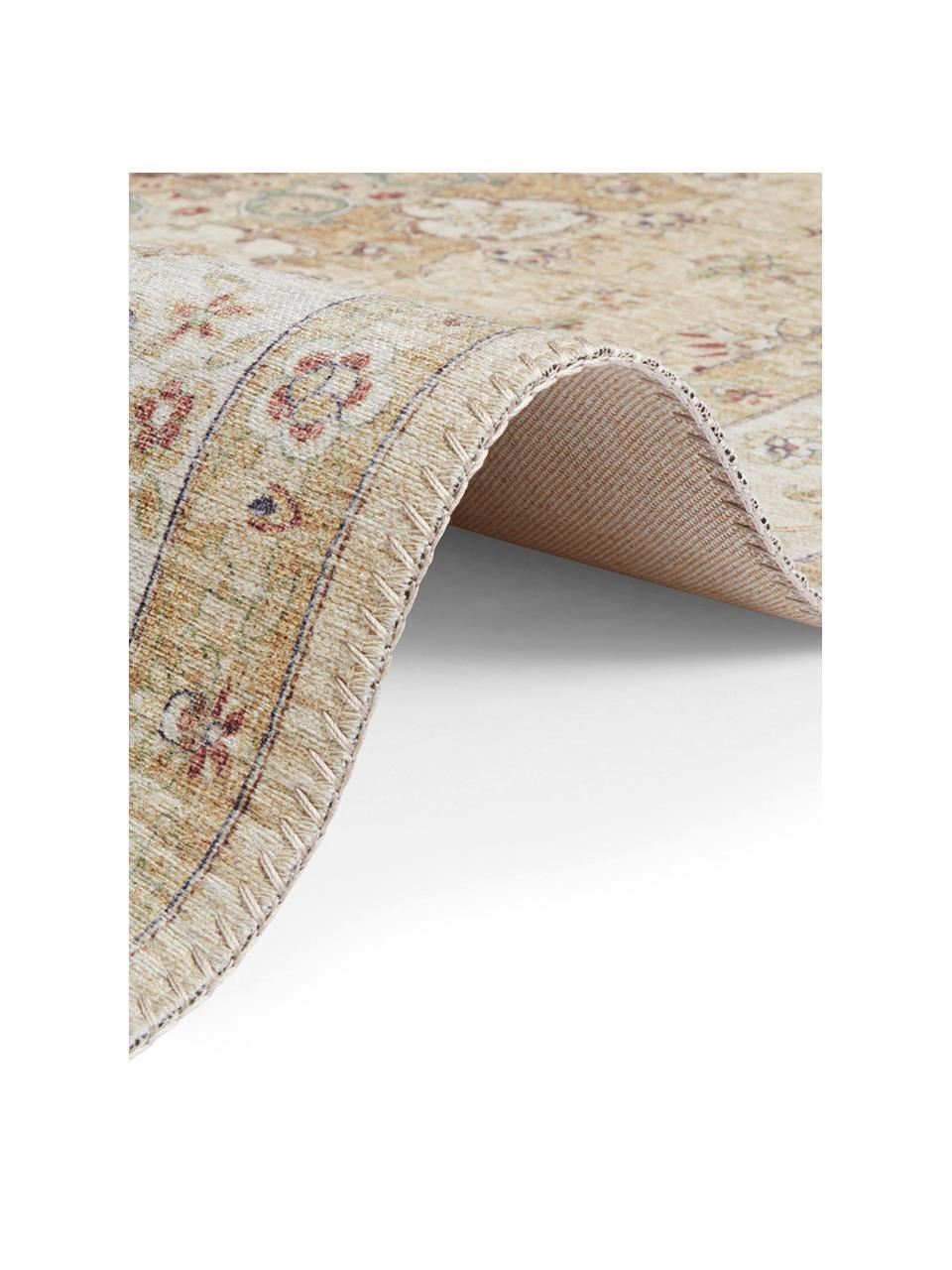 Teppich Nain im Orient Style, 100% Polyester, Gelb, Beigetöne, B 200 x L 290 cm (Größe L)