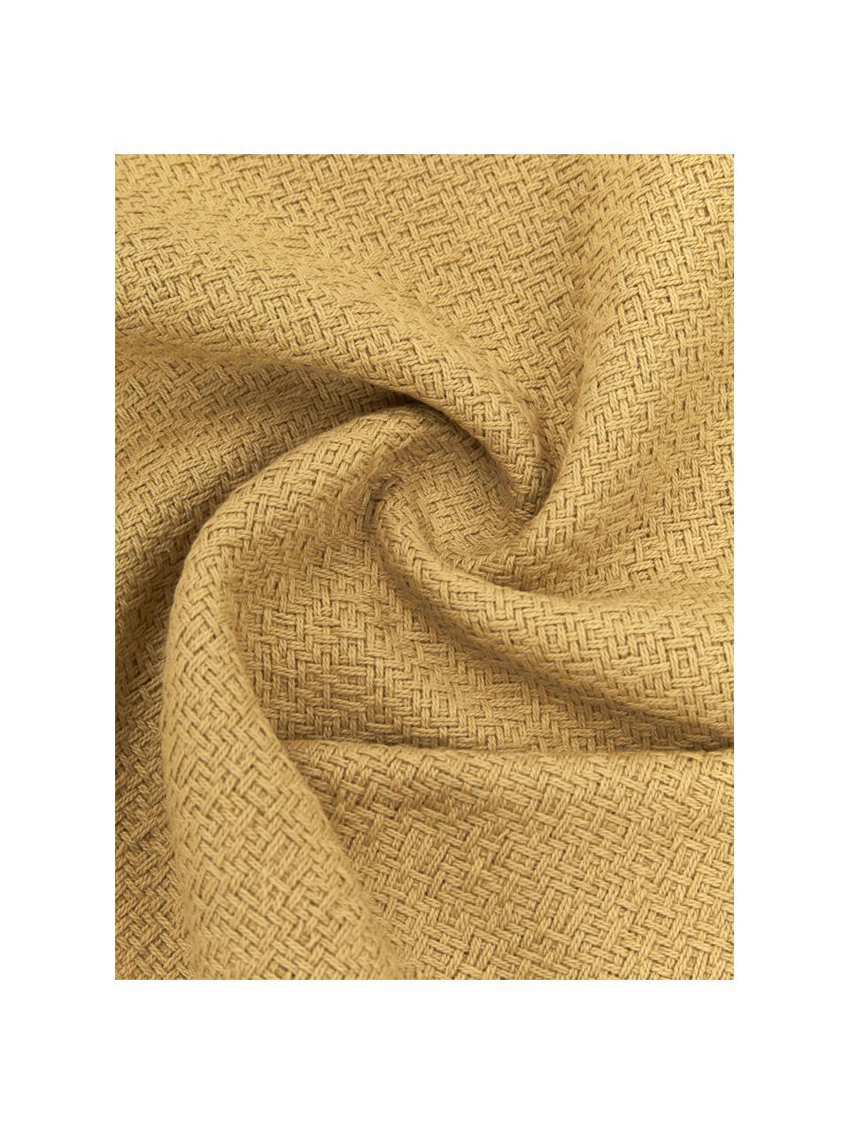 Kissenhülle Lori in Gelb, 100% Baumwolle, Gelb, 30 x 50 cm