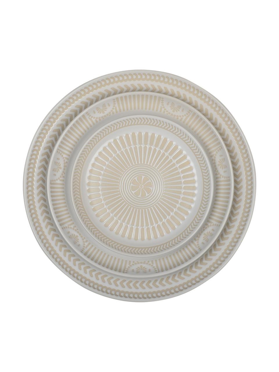 Assiette à dessert porcelaine Sonia, 2 pièces, Blanc