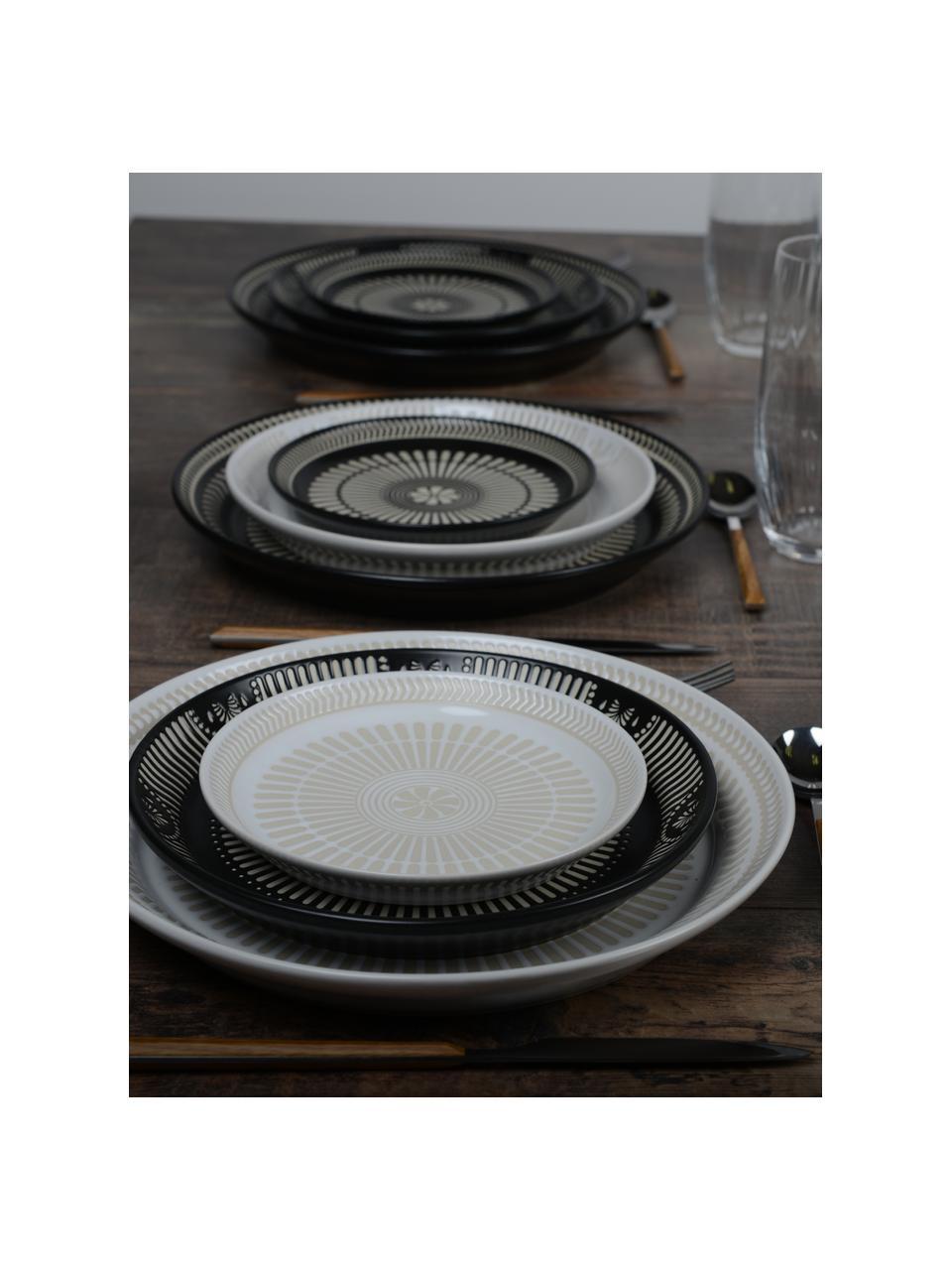 Talerz śniadaniowy z porcelany Sonia, 2 szt., Porcelana, Biały, Ø 16 cm