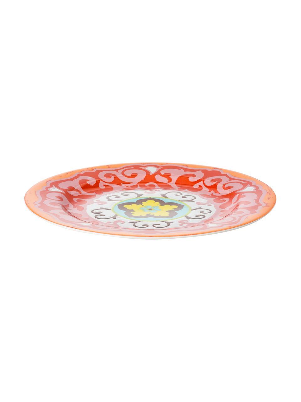 Set 6 piatti piani Nador, Gres, Multicolore, Ø 27 cm