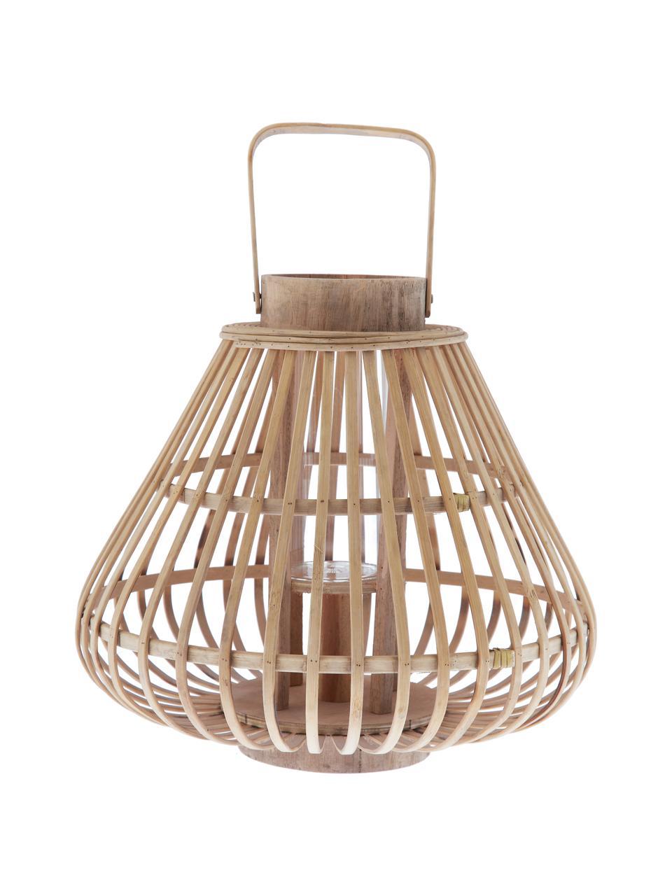 Lampáš Sahara, Konštrukcia: bambus Sklo: priehľadná