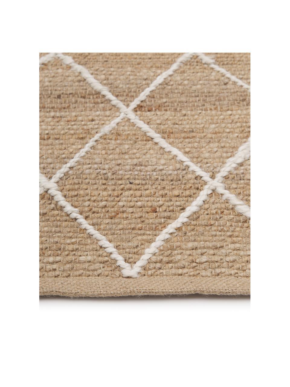 Handgemaakt juten vloerkleed Kunu, 100% jute, Beige, B 200 x L 300 cm (maat L)