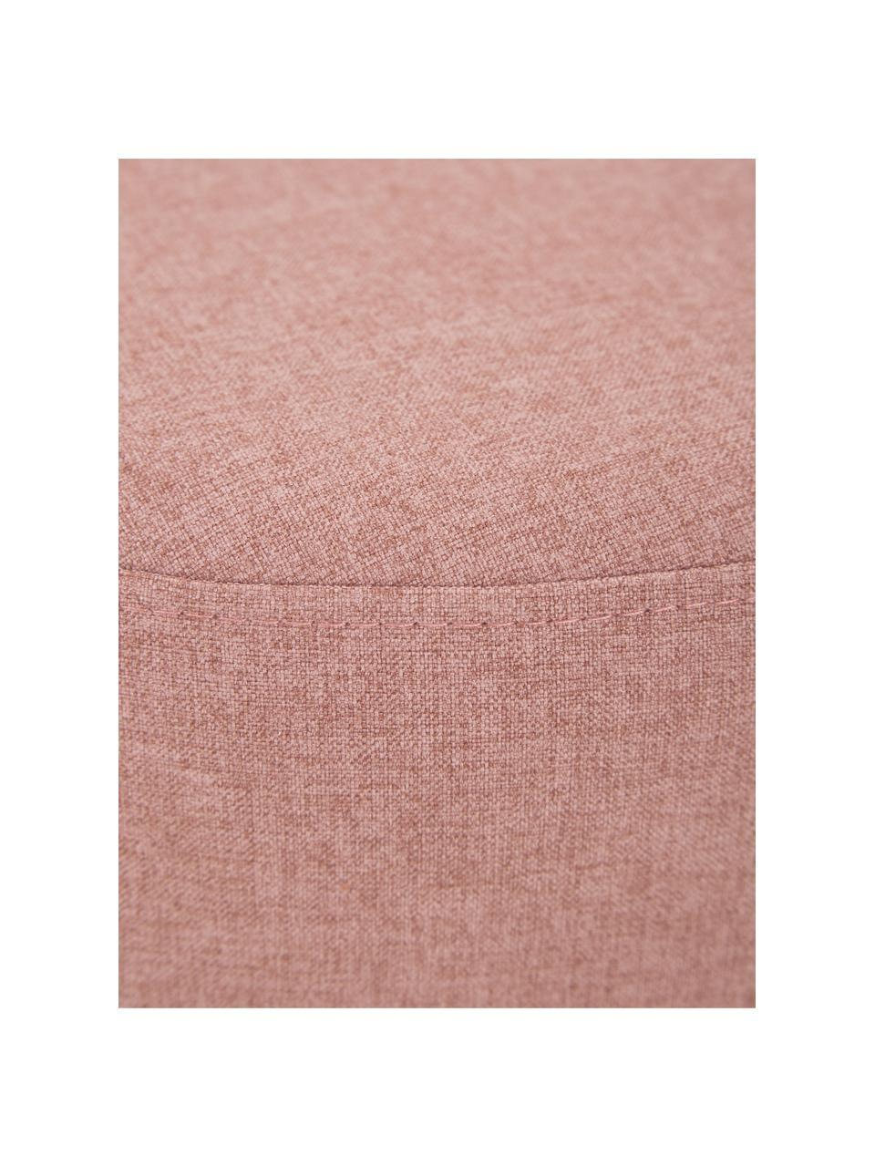 Hocker Mara in Rosa mit Wiener Geflecht, Bezug: Polyester Der hochwertige, Rahmen: Sperrholz, Fuß: Massives Birkenholz, Ratt, Webstoff Altrosa, Ø 37 x H 39 cm