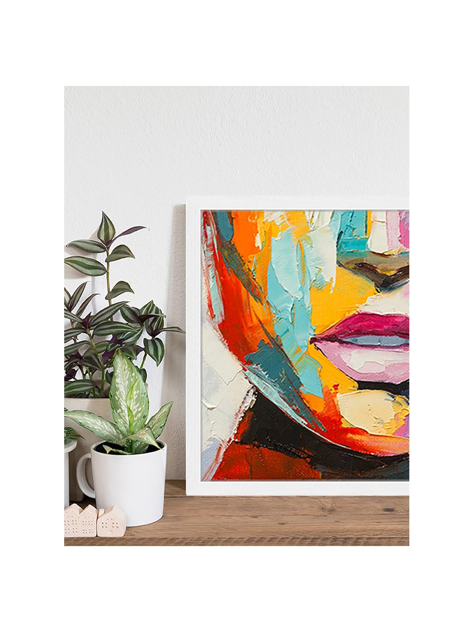Stampa digitale incorniciata Colorful Emotions, Immagine: stampa digitale su carta,, Cornice: legno verniciato, Multicolore, Larg. 53 x Alt. 43 cm