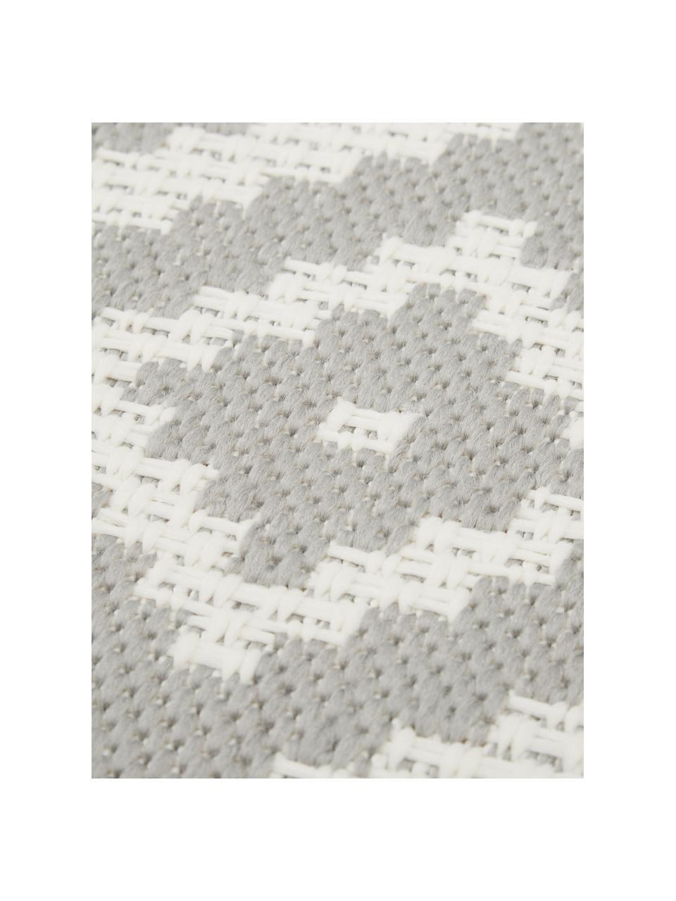 Vzorovaný koberec do interiéru/exteriéru Miami, sivá/biela, Krémovobiela, sivá