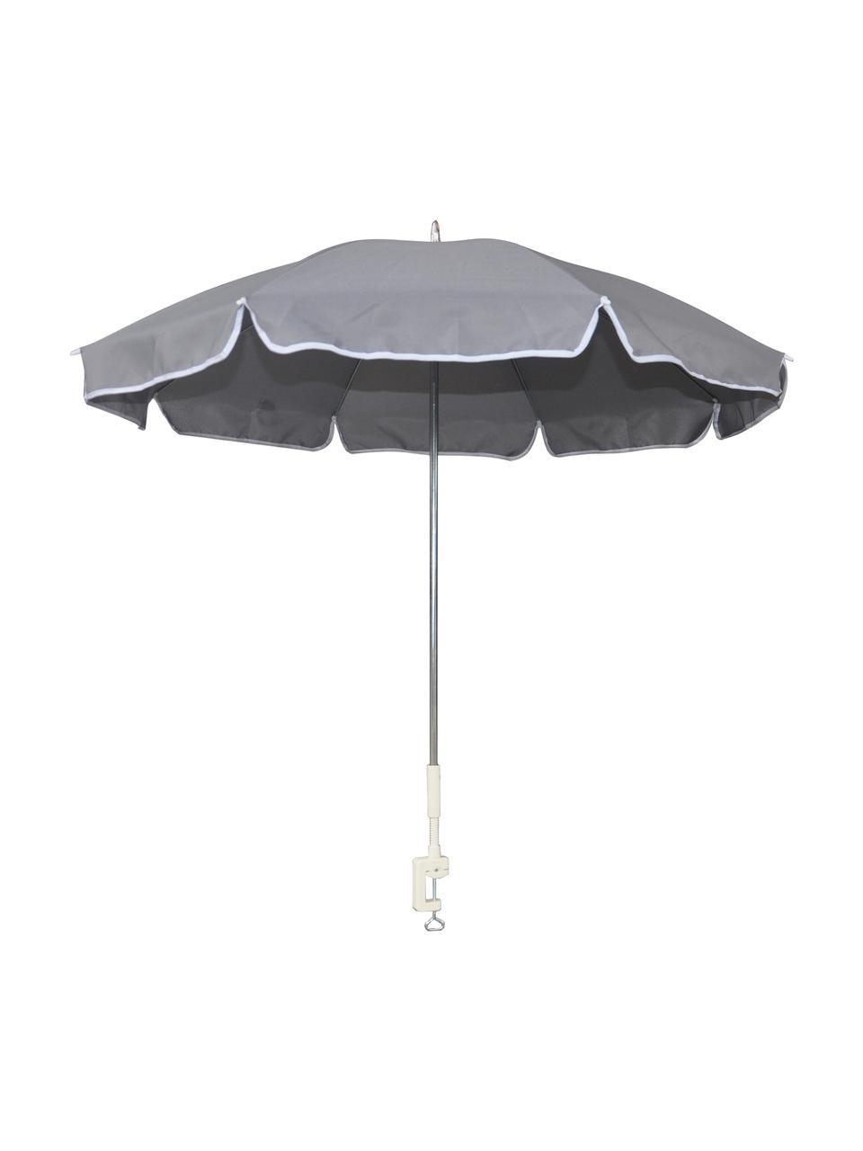 Parasol de balcon gris Billy, Gris
