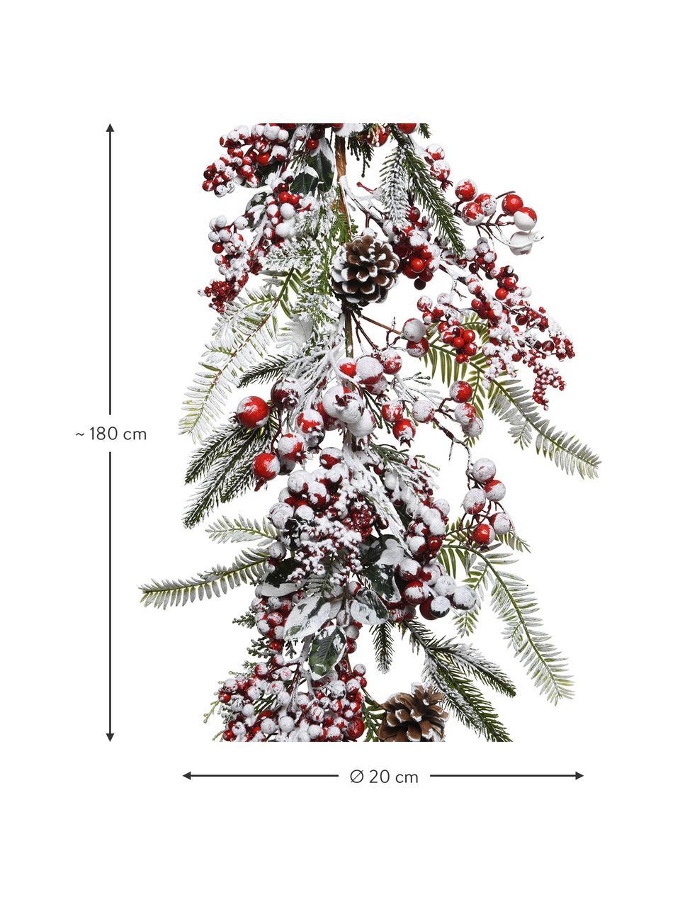 Dennenslinger Patricia L 180 cm, Kunststof, Rood, groen, wit, Ø 20 x L 180 cm