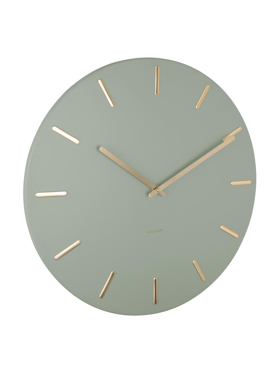 Zegar ścienny Charm, Metal powlekany, Zielony, Ø 45 cm
