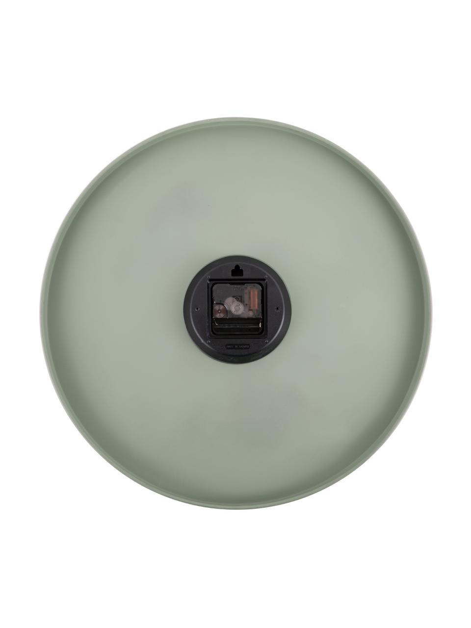 Wanduhr Charm, Metall, beschichtet, Grün, Ø 45 cm