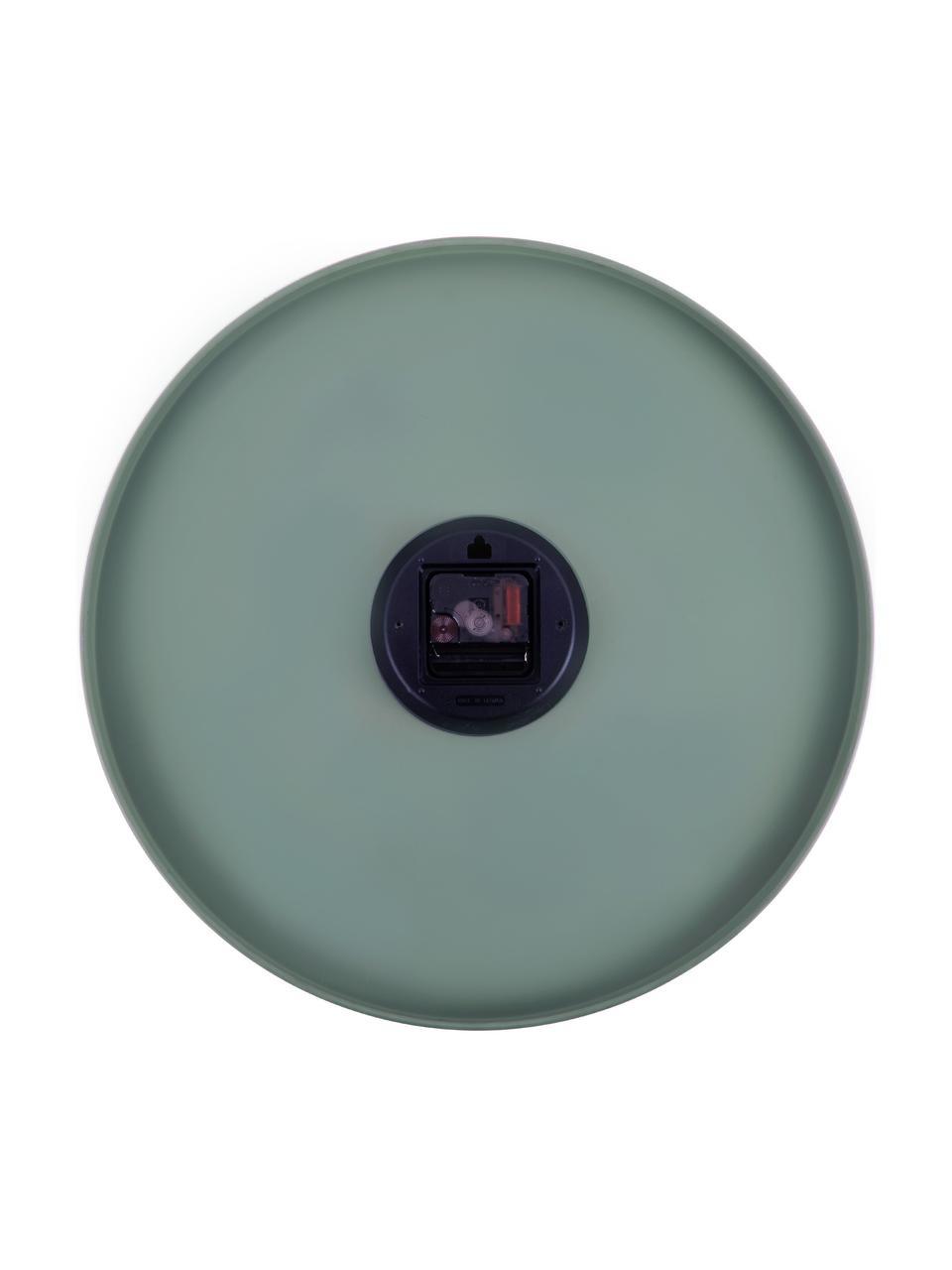 XL Wanduhr Charm, Metall, beschichtet, Grün, Ø 45 cm