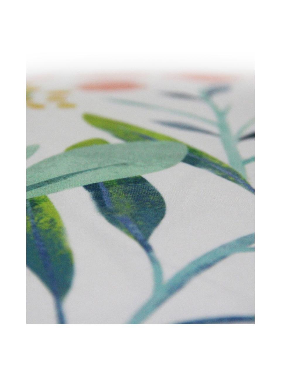 Federa arredo con motivo floreale Meadow, Poliestere, Bianco, multicolore, Larg. 40 x Lung. 40 cm