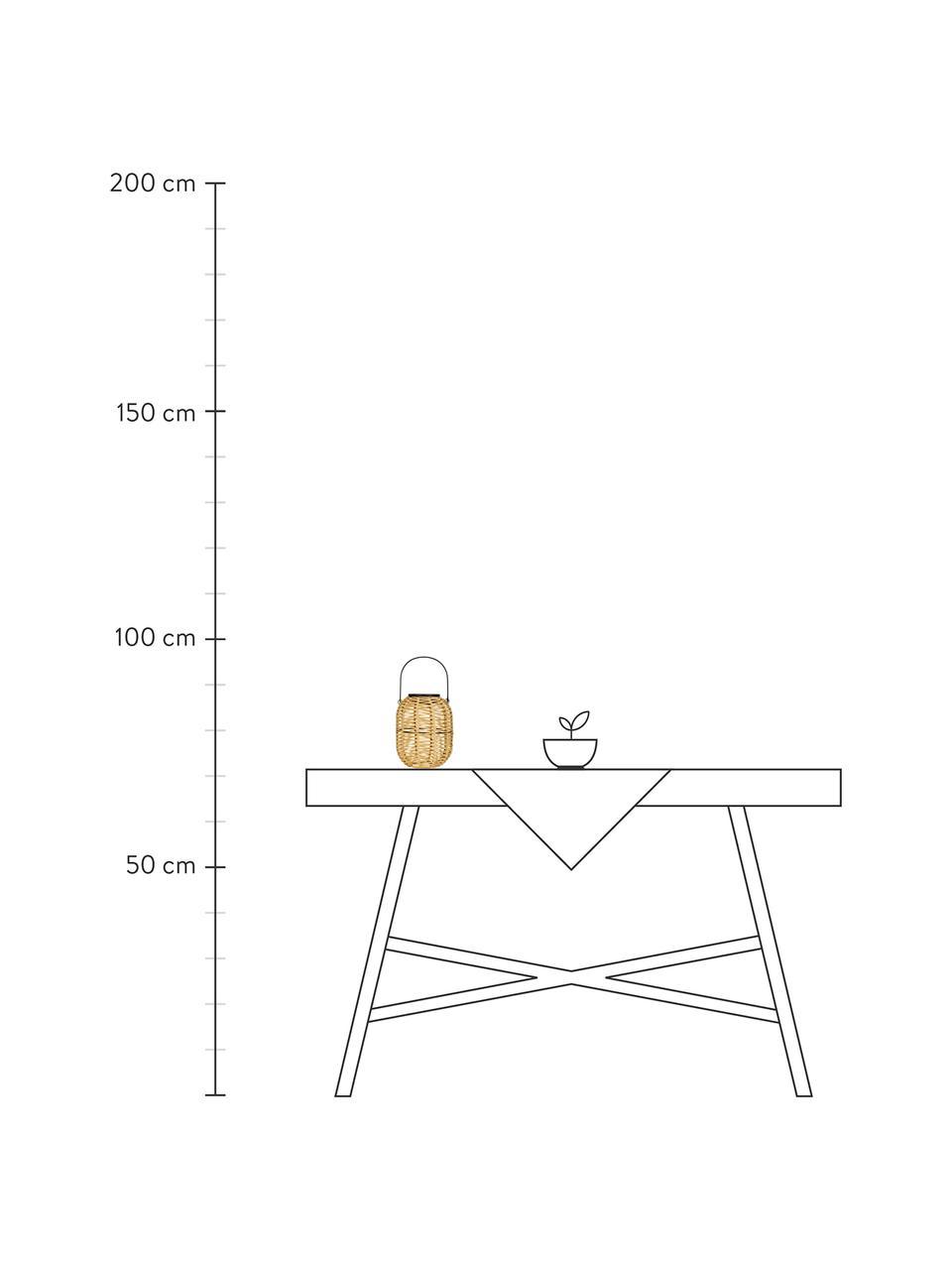 Outdoor solar lamp Treasure om op te hangen of te zetten, Lampenkap: polyrotan, Beige, Ø 16 x H 20 cm