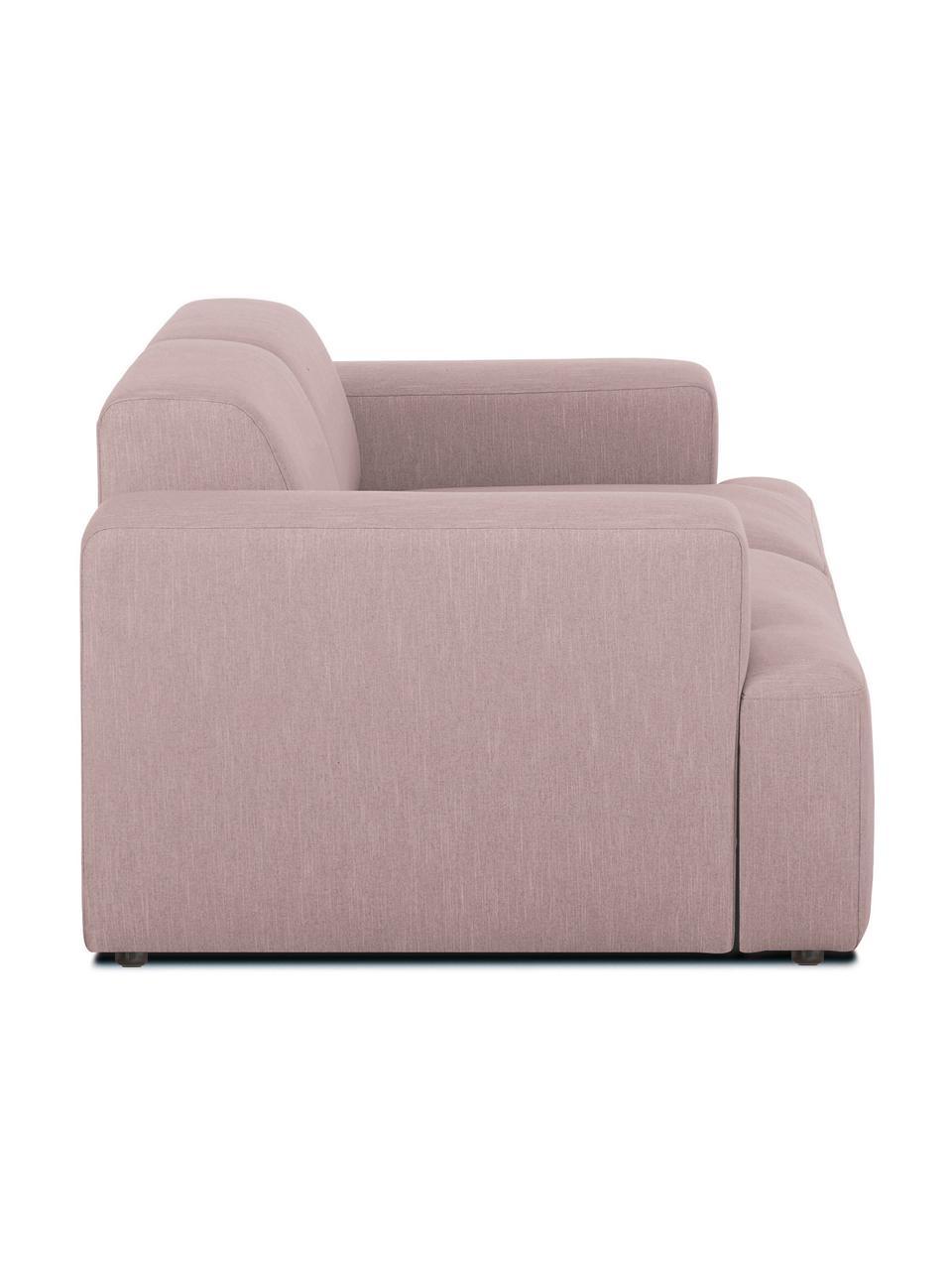 Divano a 2 posti in tessuto rosa Melva, Rivestimento: 100% poliestre Il rivesti, Struttura: pino massiccio, certifica, Tessuto rosa, Larg. 198 x Alt. 101 cm