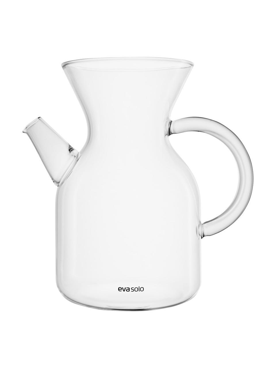 Cafetière Vetro van glas met filter en deksel, Cafetière: borosilicaatglas, Deksel: kurk, Transparant, edelstaalkleurig, 1 L