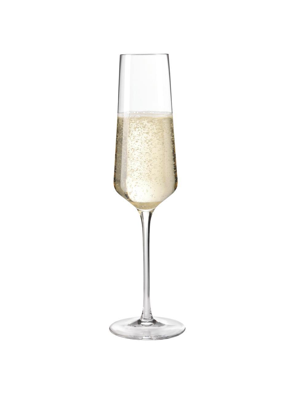 Kieliszek do szampana Puccini, 6 szt., Szkło Teqton®, Transparentny, Ø 7 x W 26 cm