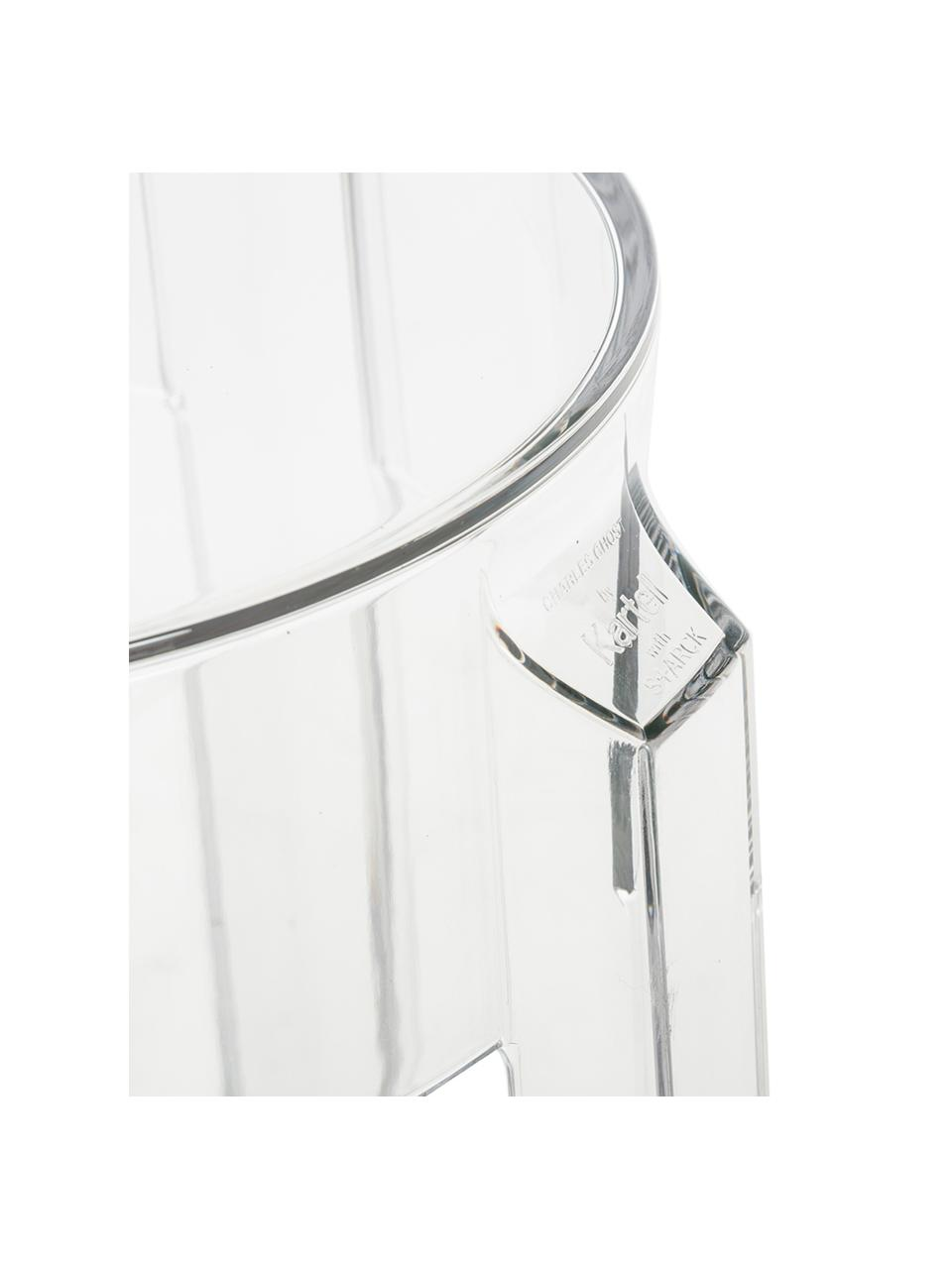 Stołek barowy  Ghost, Poliwęglan, Transparentny, Ø 46 x 75 cm