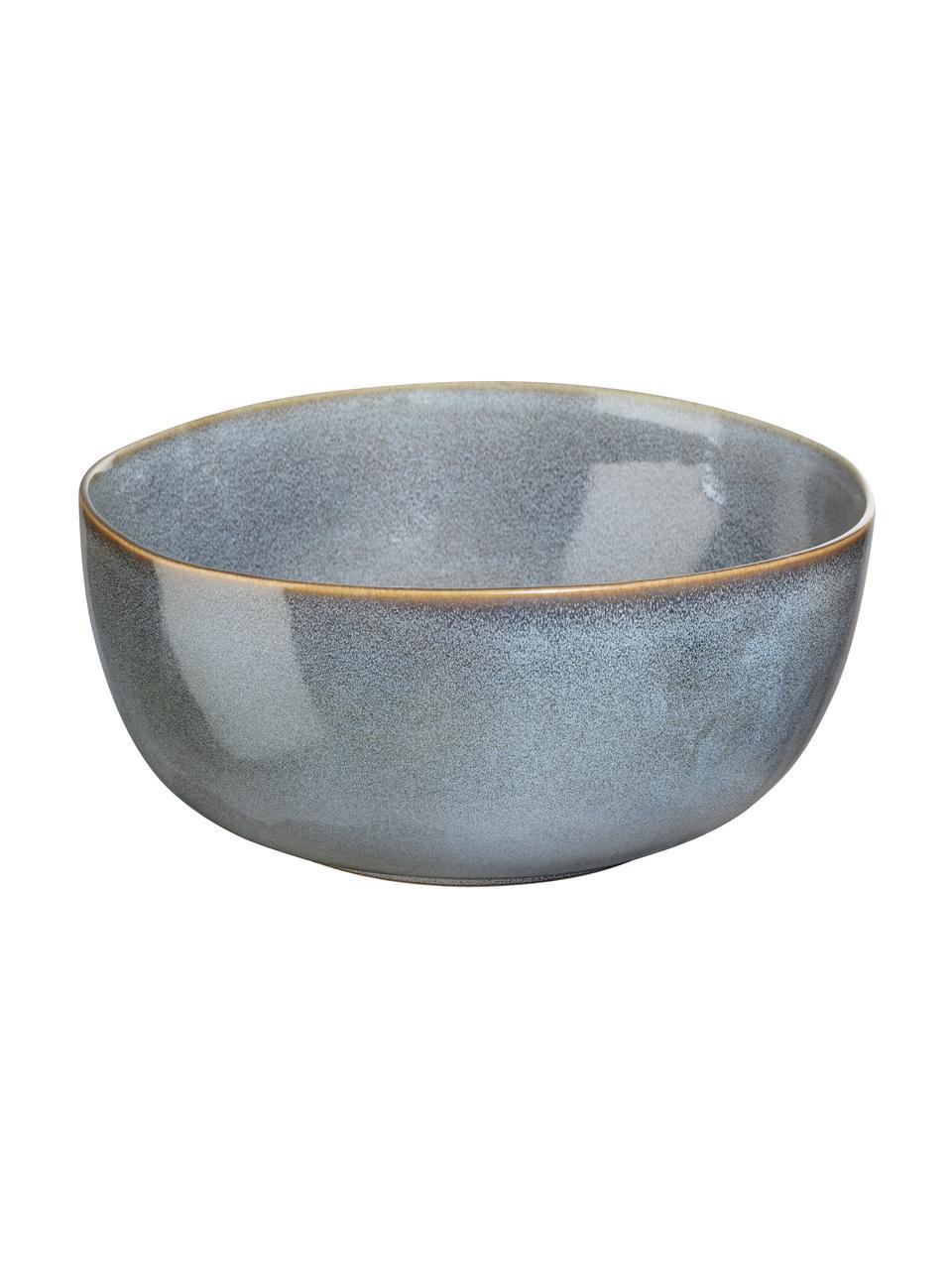 Saladeschaal Saisons van keramiek in blauw, Ø 22 cm, Keramiek, Blauw, Ø 22 x H 11 cm