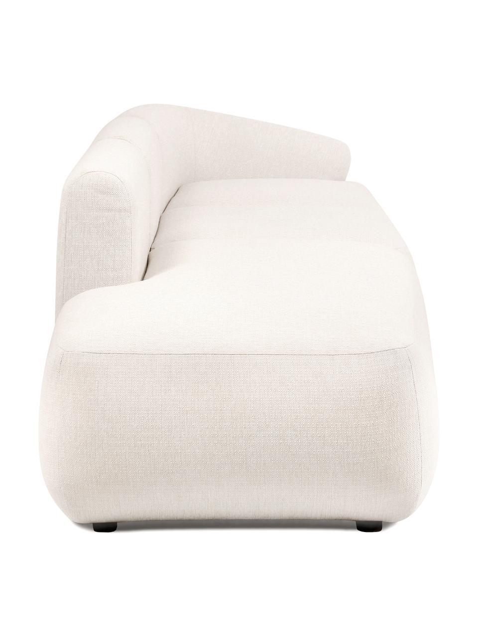Modulaire chaise longue Sofia, beige, Bekleding: 100% polypropyleen, Frame: massief grenenhout, spaan, Poten: kunststof, Geweven stof beige, B 340 x D 95 cm