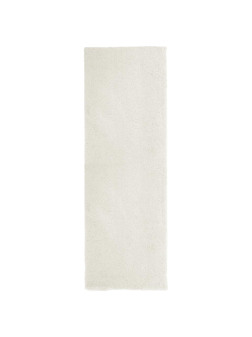 Flauschiger Hochflor-Läufer Leighton in Creme, Flor: Mikrofaser (100% Polyeste, Creme, 80 x 250 cm