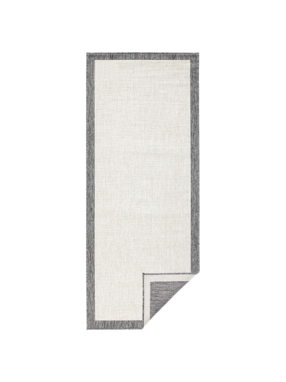 Dwustronny chodnik wewnętrzny/zewnętrzny Panama, Szary, odcienie kremowego, S 80 x D 250 cm