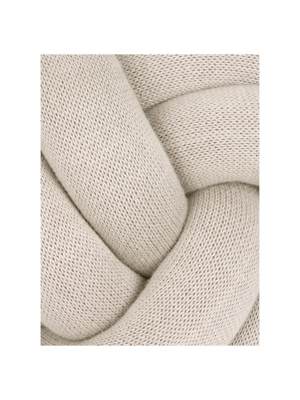 Cuscino beige chiaro Twist, Beige chiaro, Ø 30 cm
