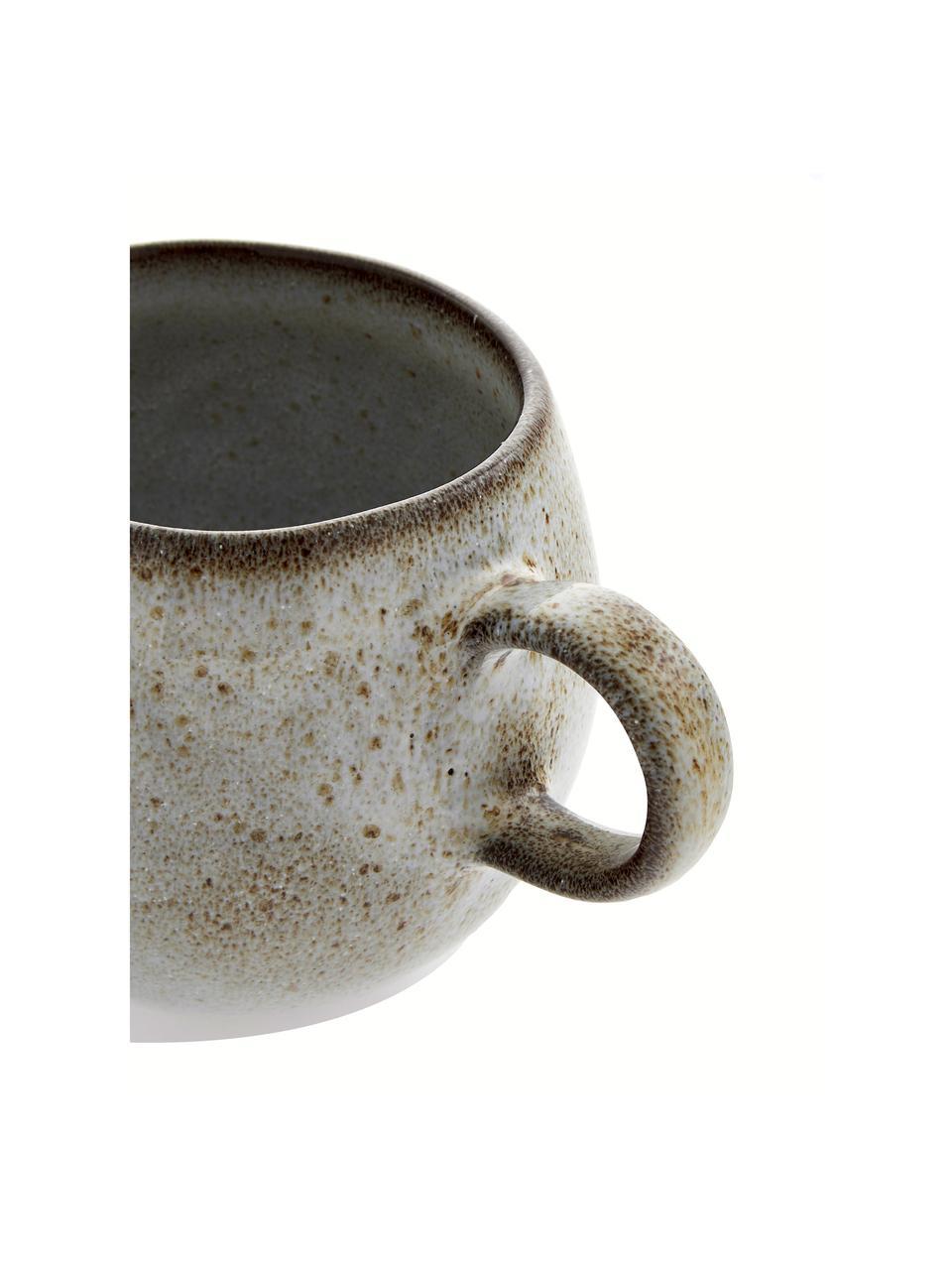 Ręcznie wykonany kubek Sandrine, Kamionka, Odcienie beżowego, Ø 10 x W 10 cm