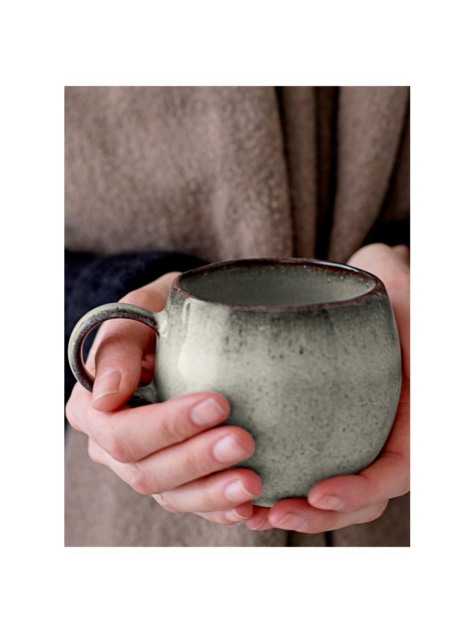 Tazza fatta a mano beige Sandrine, Terracotta, Tonalità beige, Ø 10 x Alt. 10 cm