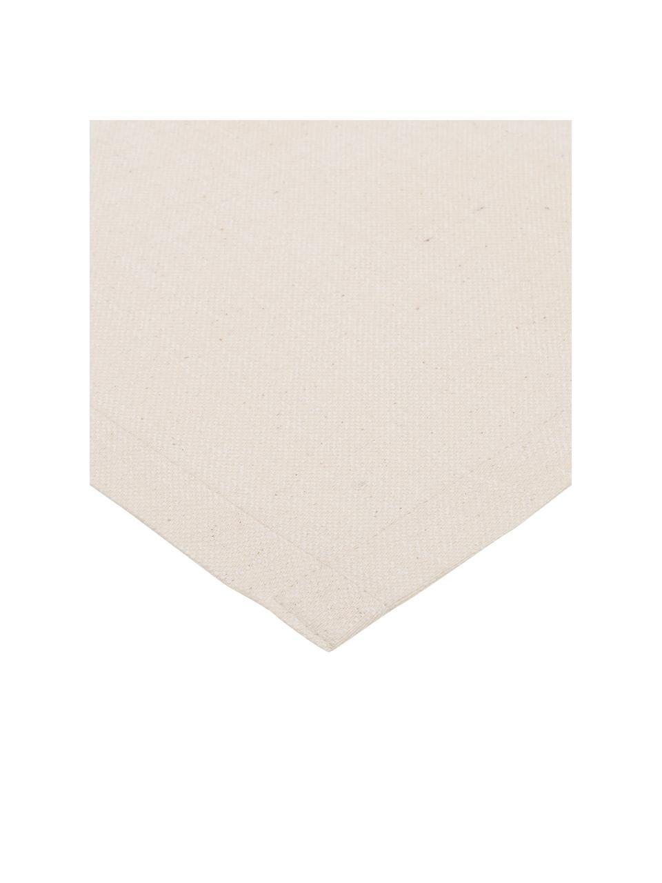 Runner in misto cotone beige Riva, 55% cotone, 45% poliestere, Beige, Larg. 40 x Lung. 150 cm